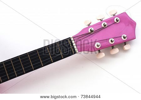 Guitar Fretboard Isolated On White