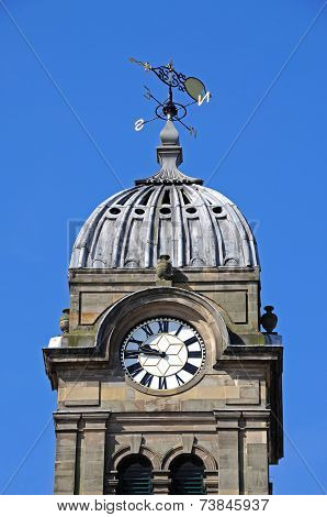 Guild hall clock tower, Derby.