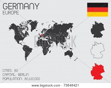 Set Of Infographic Elements For The Country Of Germany