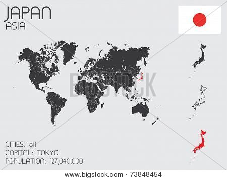 Set Of Infographic Elements For The Country Of Japan