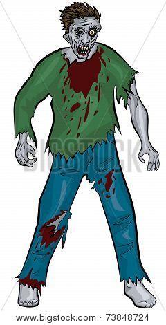 standing zombie