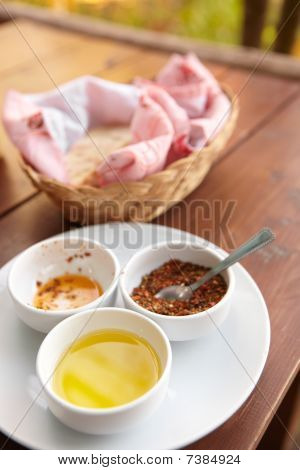 Condiments And Bread