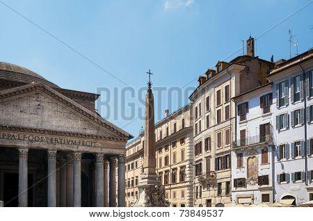 Piazza della Rotonda Rome Italy.