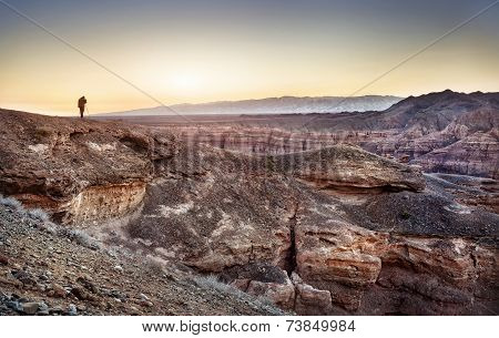 Photographer In Charyn Canyon
