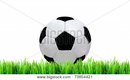 Soccer Field And Soccer Ball On White