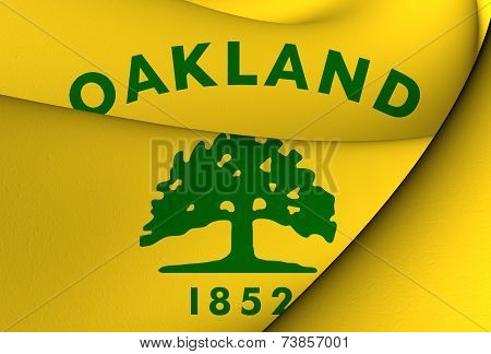 Flag Of Oakland, Usa.
