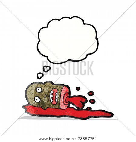 cartoon gross severed head