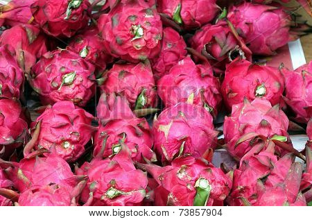 Colorful Dragon Fruits