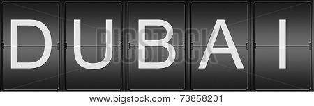 Dubai Written In Mecanical Letters