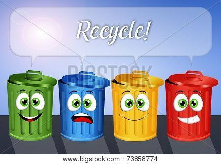 Garbage Bins For Recycle