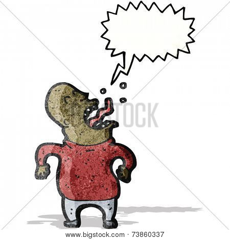 cartoon screaming man