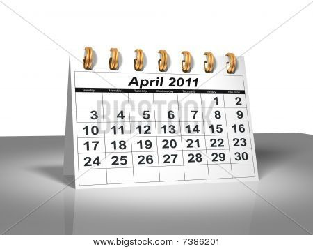 Desktop Calendar. April, 2011