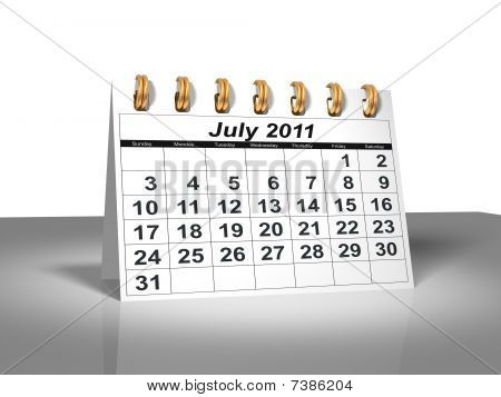 Desktop Calendar. July, 2011