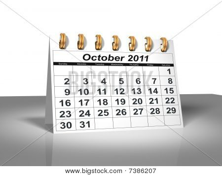 Desktop Calendar. October, 2011