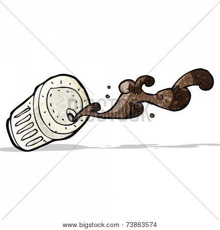 spilled coffee cartoon