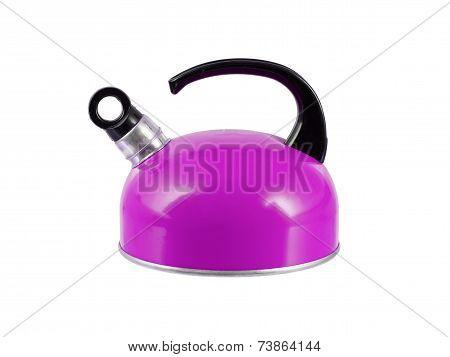 Purple Kettle Isolated