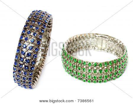 Silber Armbänder mit gem