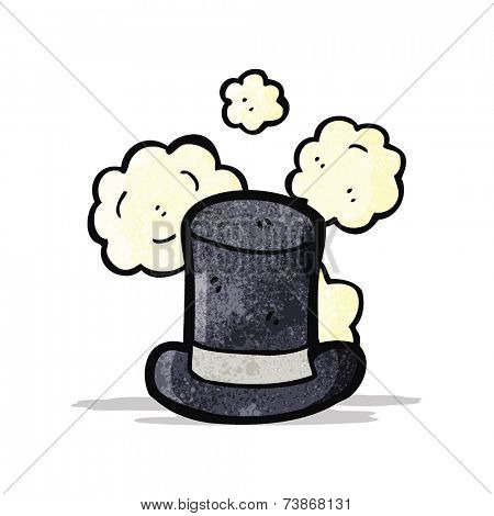 dusty old top hat cartoon