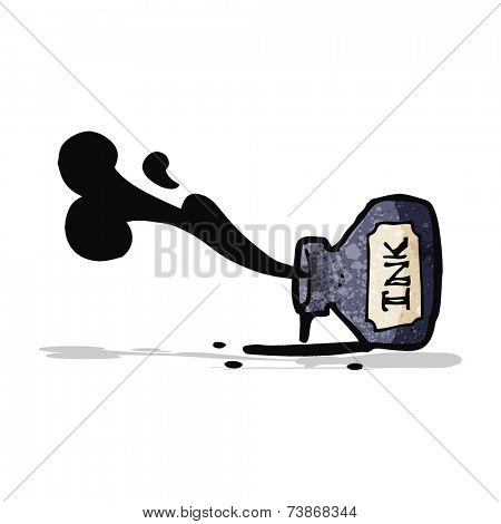 cartoon spilled ink