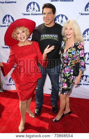 LOS ANGELES - OCT 14:  Ruta Lee, Lou Ferrigno, Carla Ferrigno at the Jeffrey Foundation Building Renaming Celebration at Jeffrey Foundation Main Building on October 14, 2014 in Los Angeles, CA