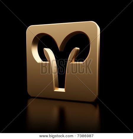 Aries Zodiac Symbol Icon