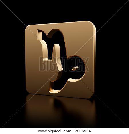 Capricorn Zodiac Symbol Icon