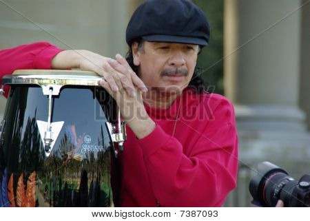 San Francisco- March 18: Legendary musician Carlos Santana is photographed at The Golden Gate Park M