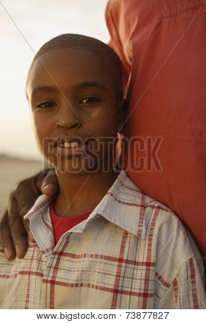 Close up of young African boy