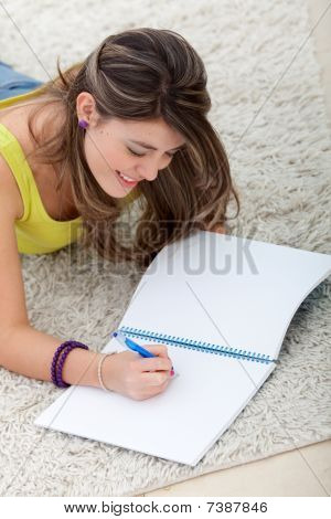 Beautiful Girl Studying