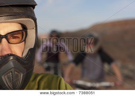 Close Up Of A Mountain Biker