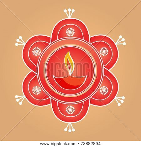 Vector artistic diwali diya background