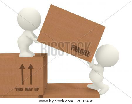 3D People Moving Boxes