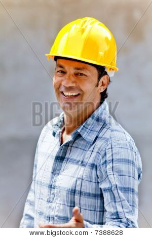 Happy Construction Worker