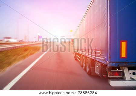 truck on a highway
