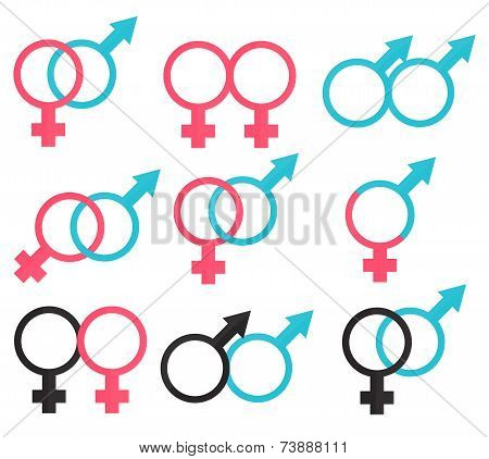 Symbols Relations Between Man And Woman