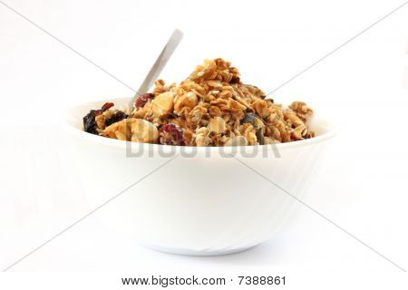 Baked Muesli In Bowl
