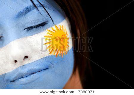 Retrato de bandera Argentina