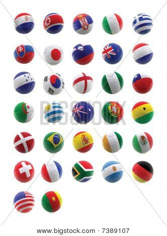 3D Football With Flags