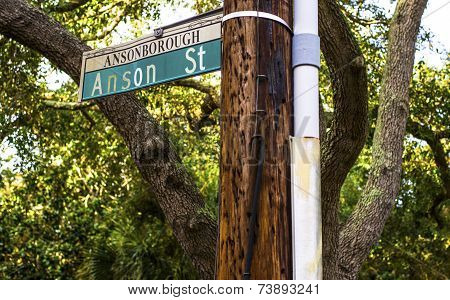 Anson Street sign in Charleston SC