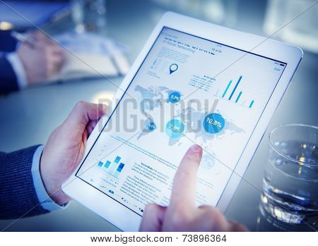 Businessman on an Online Financial Assessment
