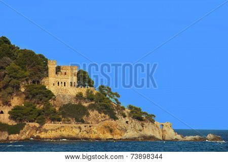 Fortress in Lloret de Mar