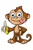 image of cheeky  - A cartoon illustration of a cheeky monkey character - JPG