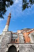 picture of constantinople  - Exterior of Hagia Sofia church in Istanbul Constantinople Turkey - JPG