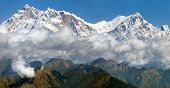 picture of nepali  - view of Annapurna Himal from Jaljala pass  - JPG