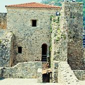picture of yugoslavia  - Old houses in Budva Montenegro - JPG