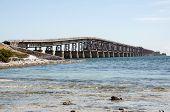 pic of mile  - The old seven mile bridge in Florida Keys - JPG