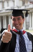 Happy Graduate - Thumbs Up poster