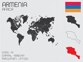 stock photo of armenia  - A Set of Infographic Elements for the Country of Armenia - JPG