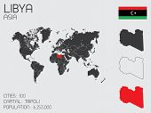 foto of libya  - A Set of Infographic Elements for the Country of Libya - JPG