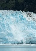stock photo of mear  - View of calving ice on Alaska